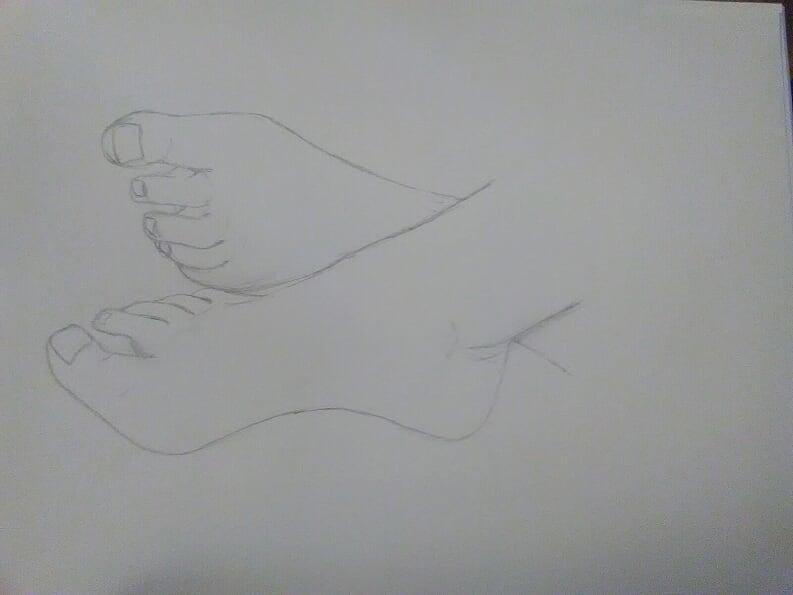 Etude pieds et mains