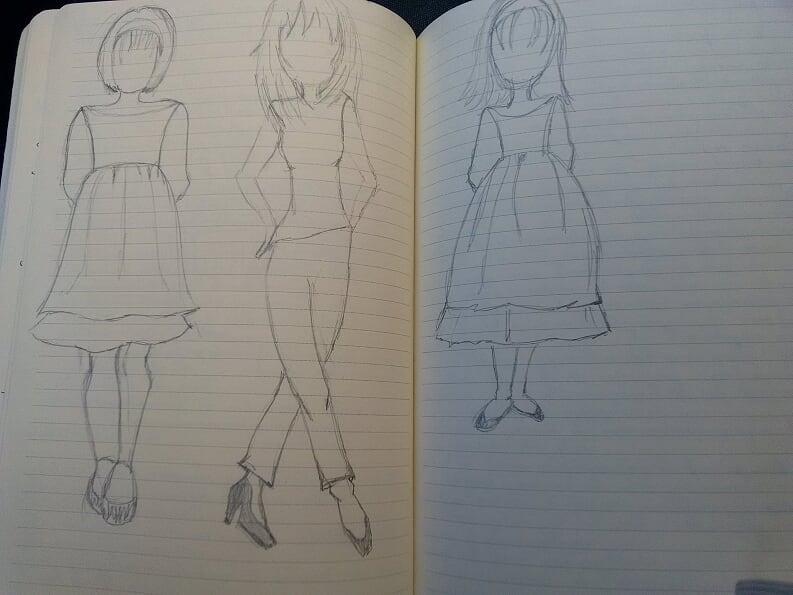 3 jeunes filles
